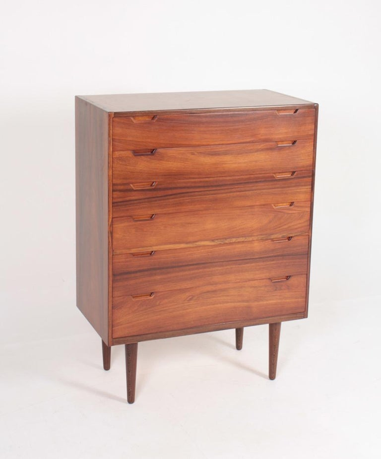 Scandinavian Modern Midcentury Commode in Rosewood by Svend Langkilde, 1960s Danish Design For Sale