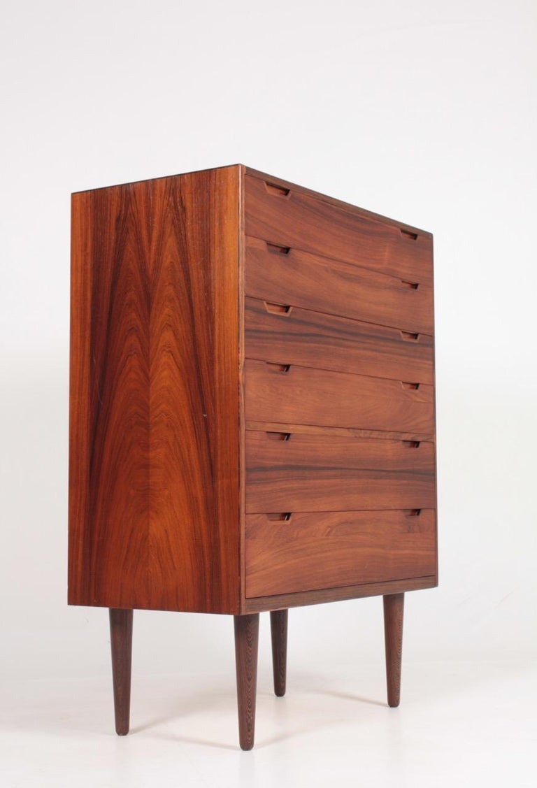 Midcentury Commode in Rosewood by Svend Langkilde, 1960s Danish Design For Sale 1