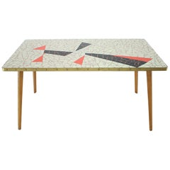 Midcentury Conference Mosaic Table, Germany, 1960s