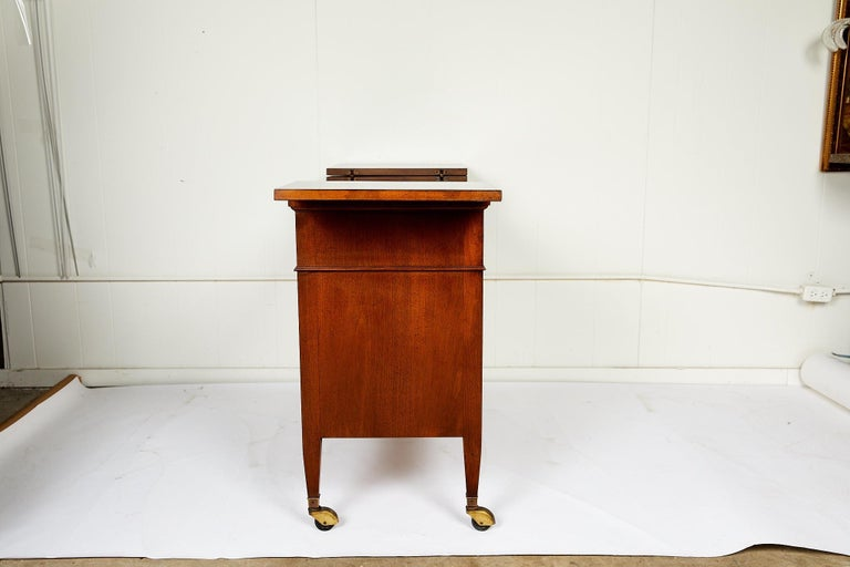 Midcentury Convertible Rolling Barcart Server by Mount Airy Furniture 3