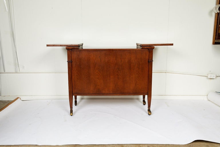 Midcentury Convertible Rolling Barcart Server by Mount Airy Furniture 4