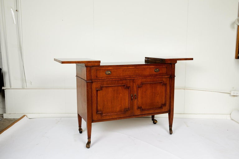 Midcentury Convertible Rolling Barcart Server by Mount Airy Furniture 2