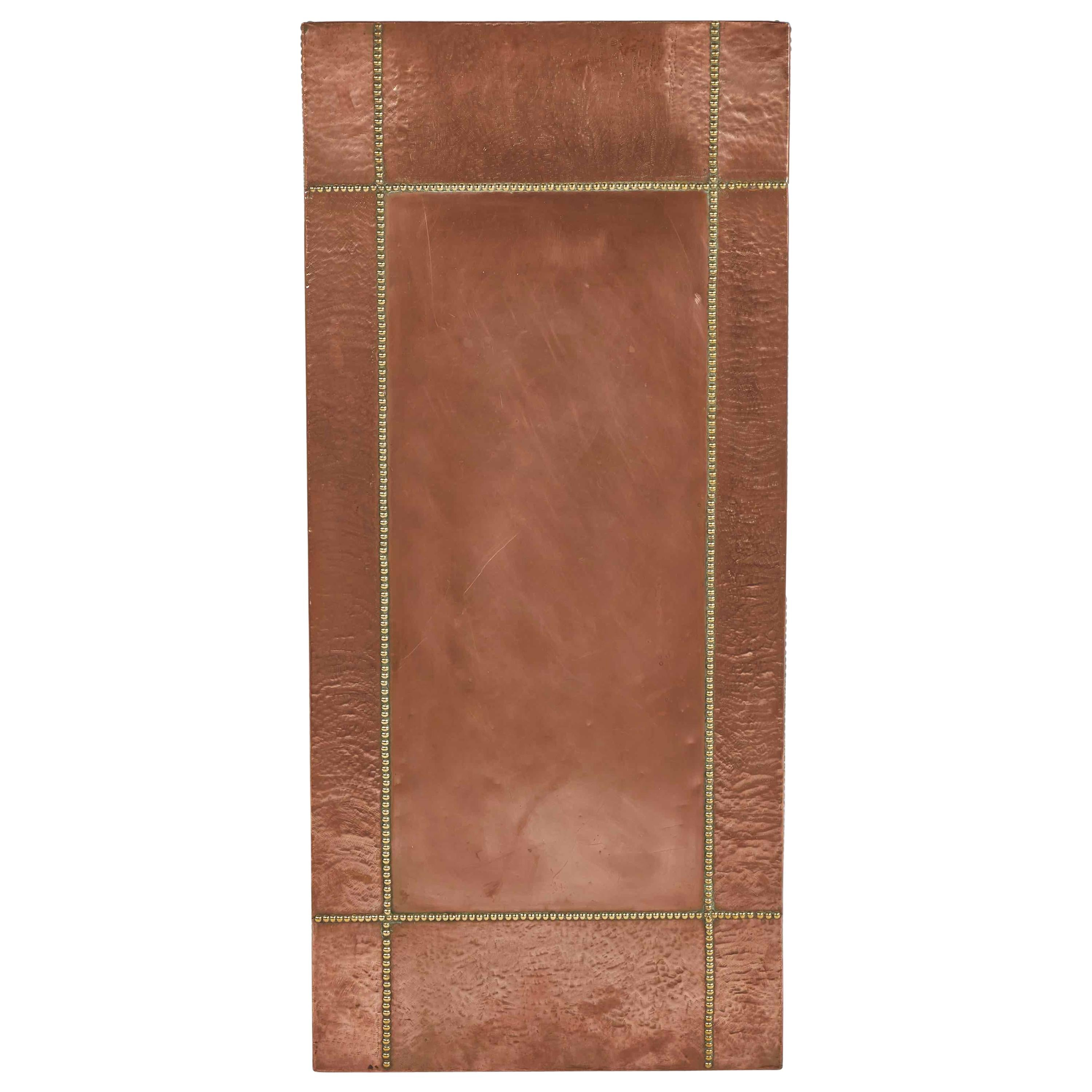 Mid Century French Copper and Brass Panel