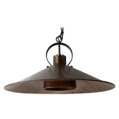 Midcentury Copper Danish Ceiling Lamp
