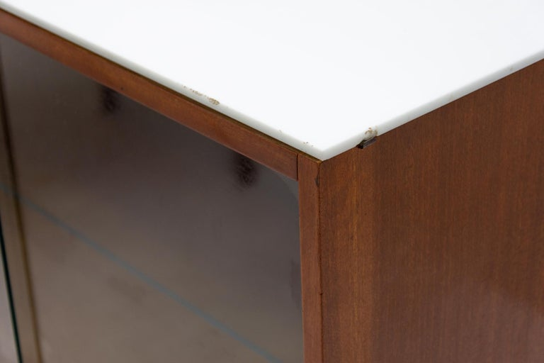 Midcentury Corner Writing Desk with a Small Bookcase, UP Závody, 1960s For Sale 7
