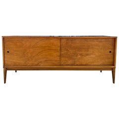 Midcentury Credenza by Paul McCobb Planner Group #1513 Wood Doors Walnut