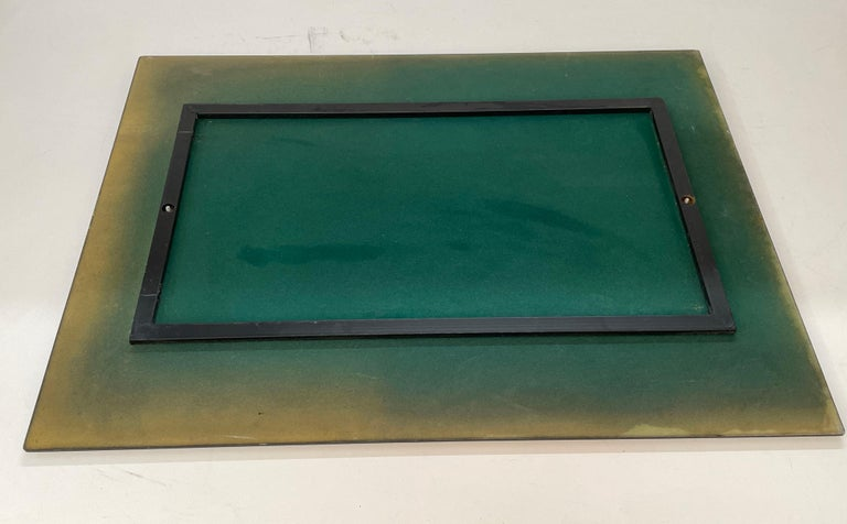 Midcentury Cristal Arte Italian Rectangular Carved Mirror with Frame, 1960s For Sale 7