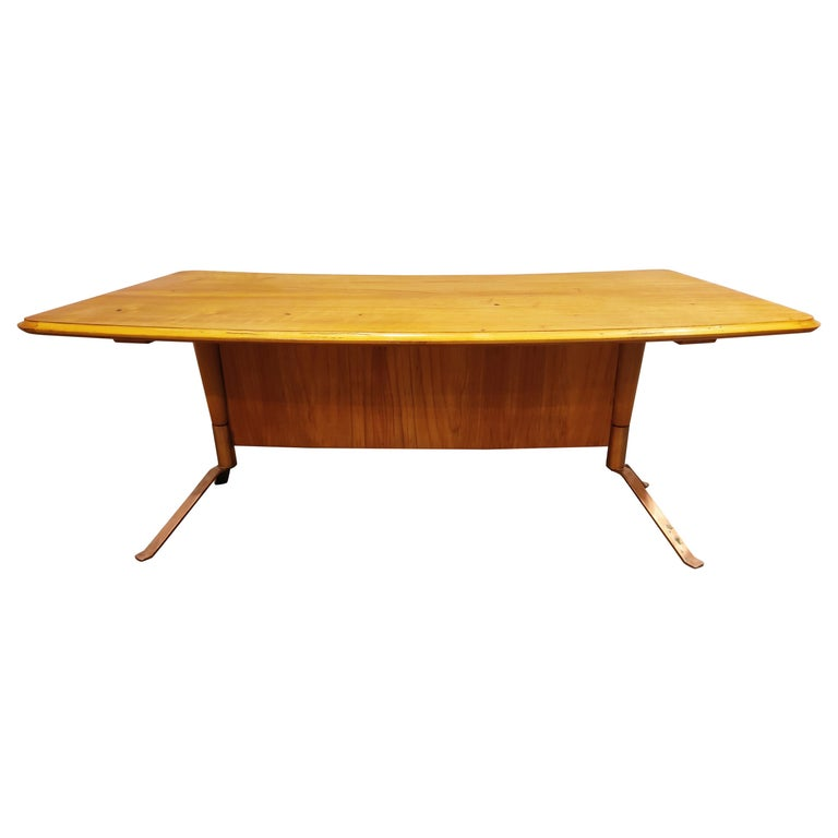 Midcentury Curved Coffee Table, 1960s For Sale