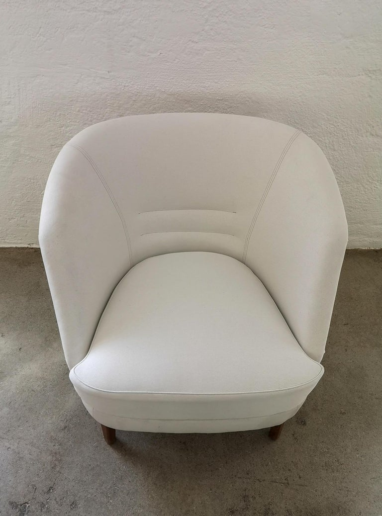 Midcentury Curved Sofa and Chair OPE Sweden, 1950s For Sale 4