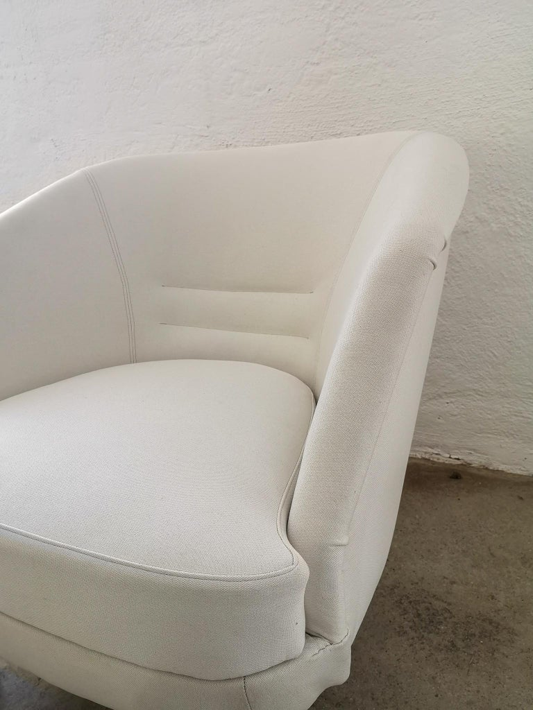 Midcentury Curved Sofa and Chair OPE Sweden, 1950s For Sale 5