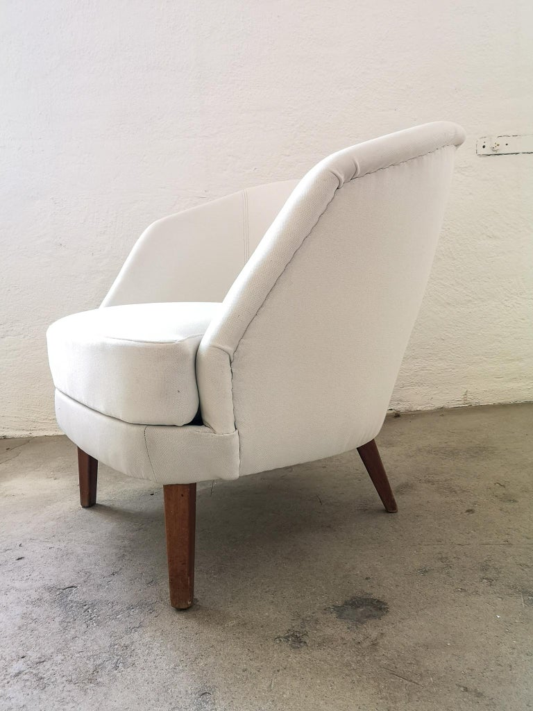 Midcentury Curved Sofa and Chair OPE Sweden, 1950s For Sale 6