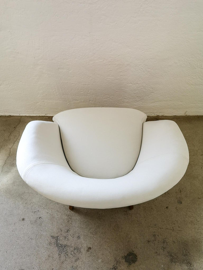 Midcentury Curved Sofa and Chair OPE Sweden, 1950s For Sale 8