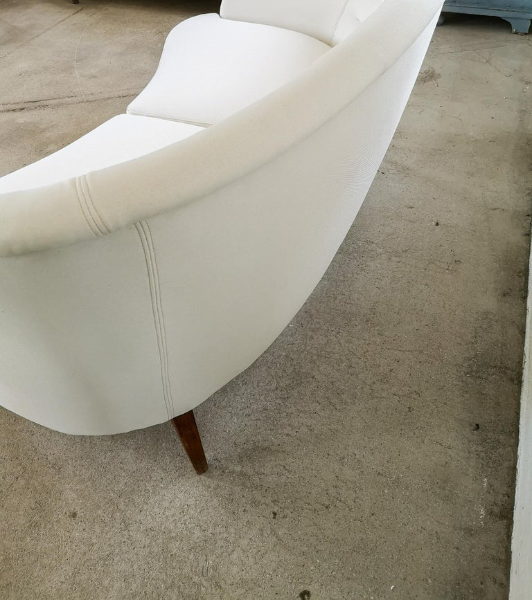 Midcentury Curved Sofa and Chair OPE Sweden, 1950s For Sale 9