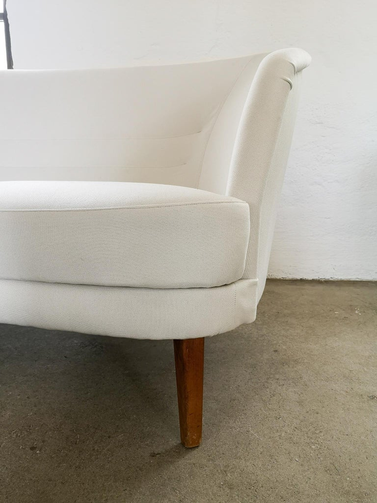 Swedish Midcentury Curved Sofa and Chair OPE Sweden, 1950s For Sale