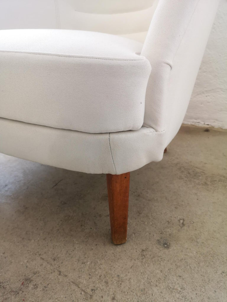 Midcentury Curved Sofa and Chair OPE Sweden, 1950s In Excellent Condition For Sale In Langserud, SE