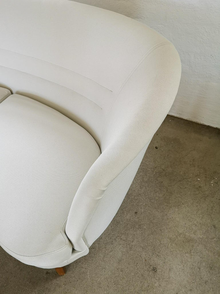 Mid-20th Century Midcentury Curved Sofa and Chair OPE Sweden, 1950s For Sale