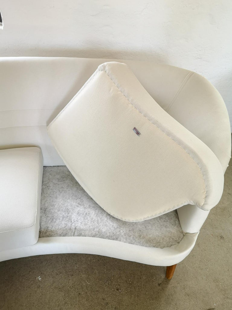 Midcentury Curved Sofa and Chair OPE Sweden, 1950s For Sale 1