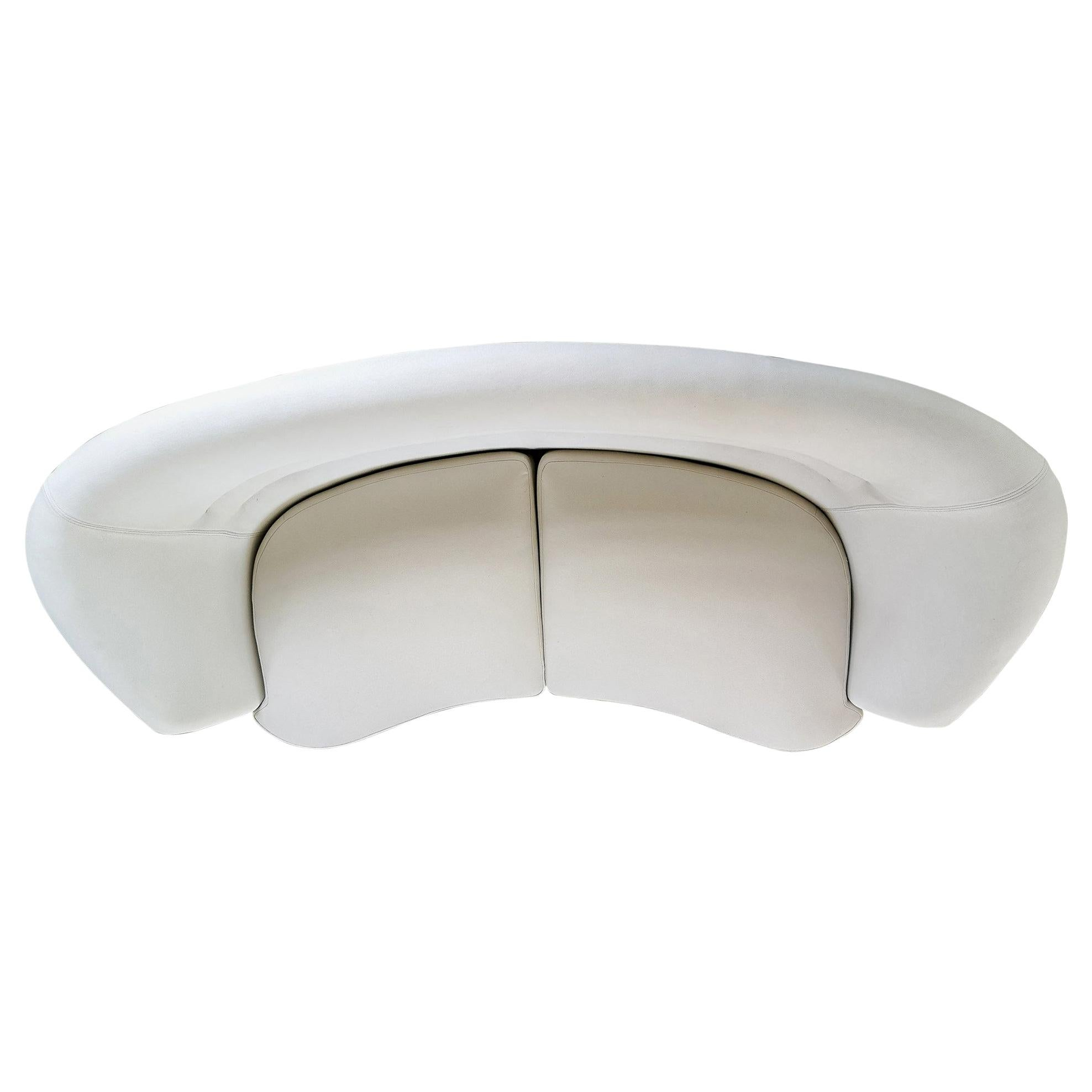 Midcentury Curved Sofa and Chair OPE Sweden, 1950s