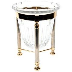 Midcentury schneiden Crystal Champagner Kühler