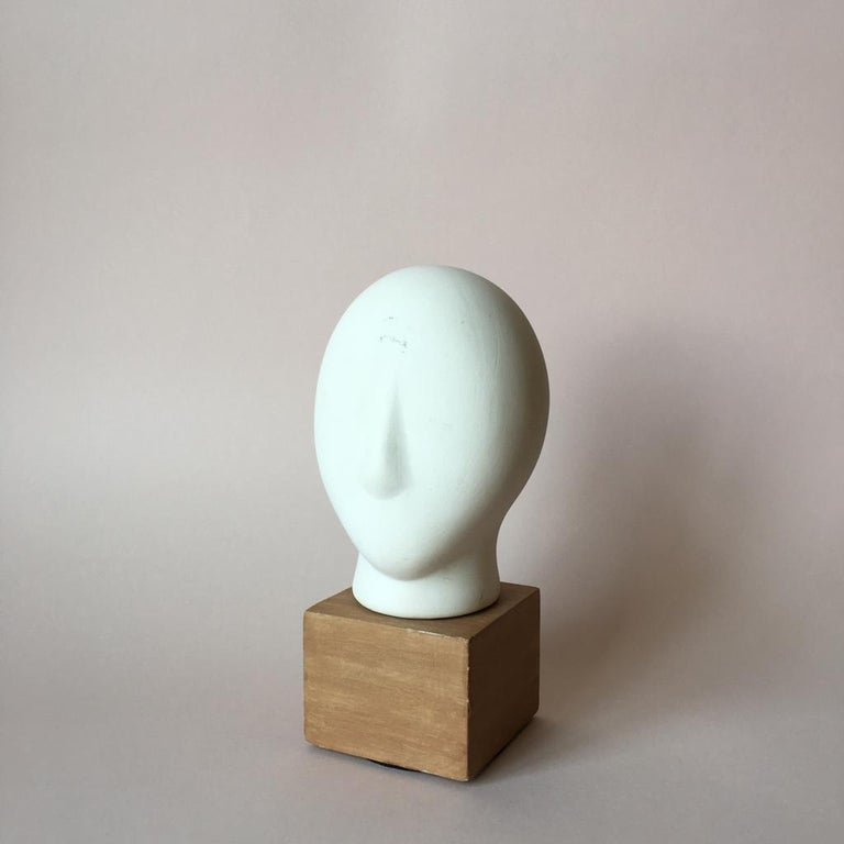 Minimalist Midcentury Cycladic Head Sculpture For Sale