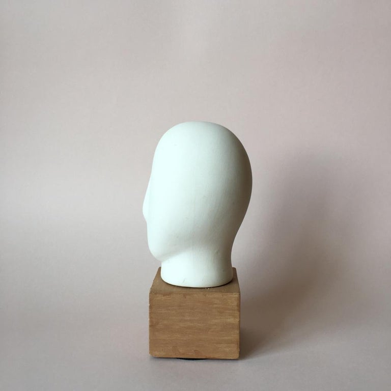 European Midcentury Cycladic Head Sculpture For Sale