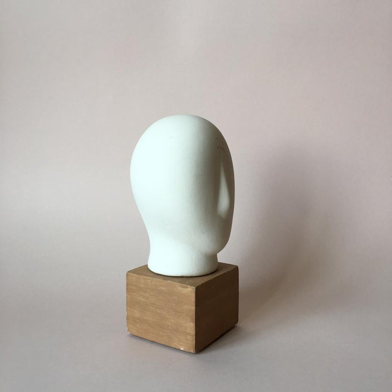 Clay Midcentury Cycladic Head Sculpture For Sale