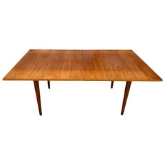 Midcentury Danish American walnut Expandable Dining Table with '2' Leaves