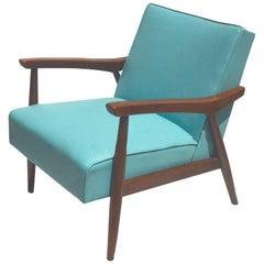 Midcentury Danish Baumritter Armchair with Original Upholstery