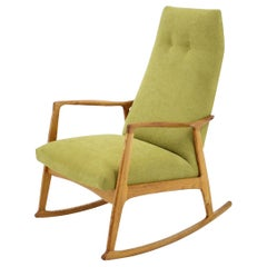 Midcentury Danish Beechwood Rocking Chair, 1960s