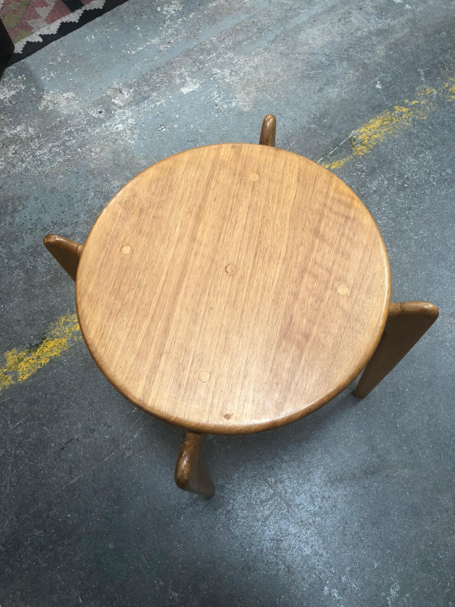 Midcentury Danish Blonde Wood End Table At 1stdibs