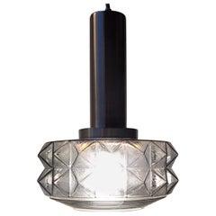 Midcentury Danish Ceiling Lamp in Smoke Glass from Vitrika, 1960s