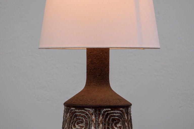 Scandinavian Modern Midcentury Danish Ceramic Table Lamp by Jette Hellerø for Axella For Sale