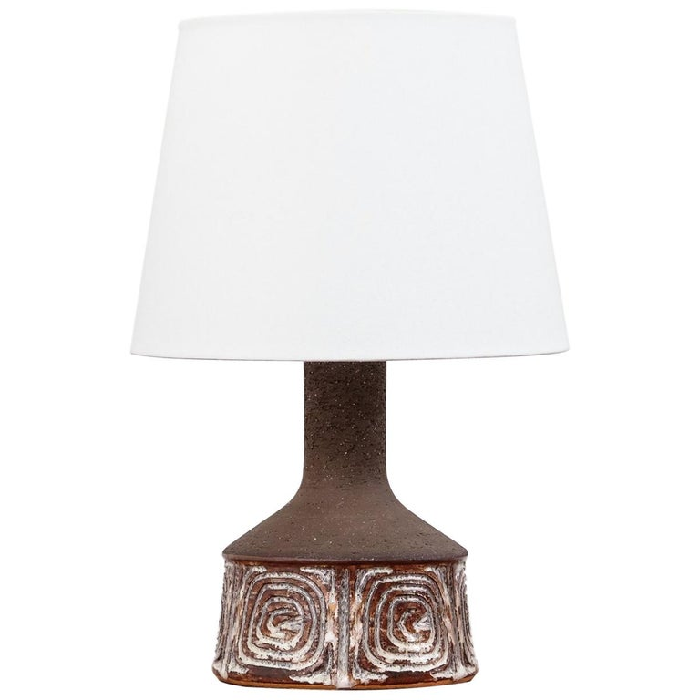 Midcentury Danish Ceramic Table Lamp by Jette Hellerø for Axella For Sale