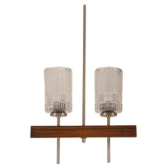 Midcentury Danish Chandelier with Glass Shades