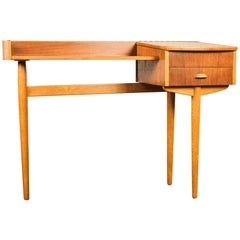 Midcentury Danish Console Table in Teak and Oak, 1960s