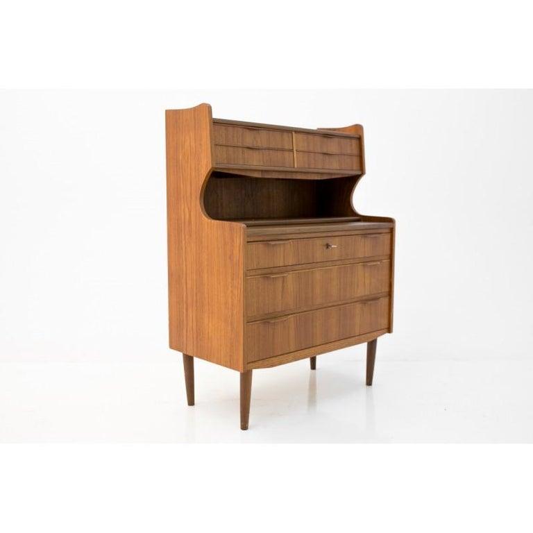 Mid-Century Modern Midcentury Danish Design Secretary / Vanity in Teak, 1960s For Sale