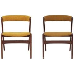 Midcentury Danish Fire Chairs by Kai Kristiansen, Set of 2