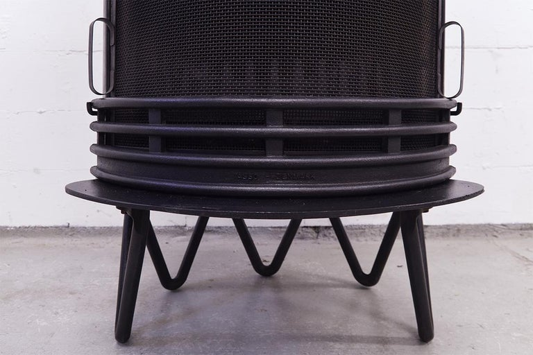 Scandinavian Modern Midcentury Danish Fireplace by Hoff & Windinge for Tasso, 1942 For Sale
