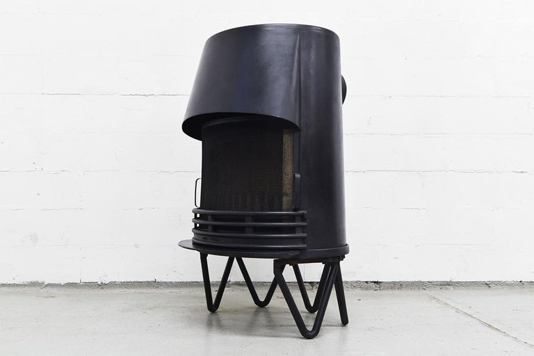 Metal Midcentury Danish Fireplace by Hoff & Windinge for Tasso, 1942 For Sale