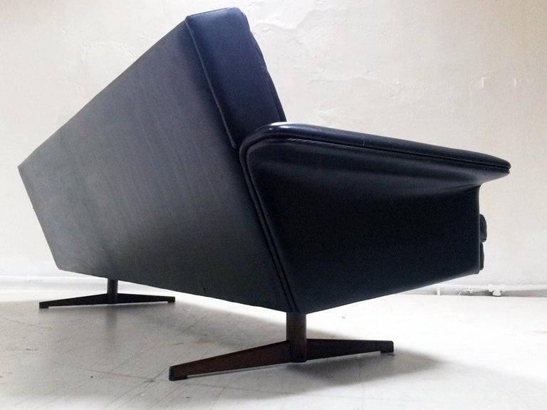 Mid-20th Century Midcentury Danish Leather 3-piece Lounge Suite by Komfort designed HW Klein 60s For Sale