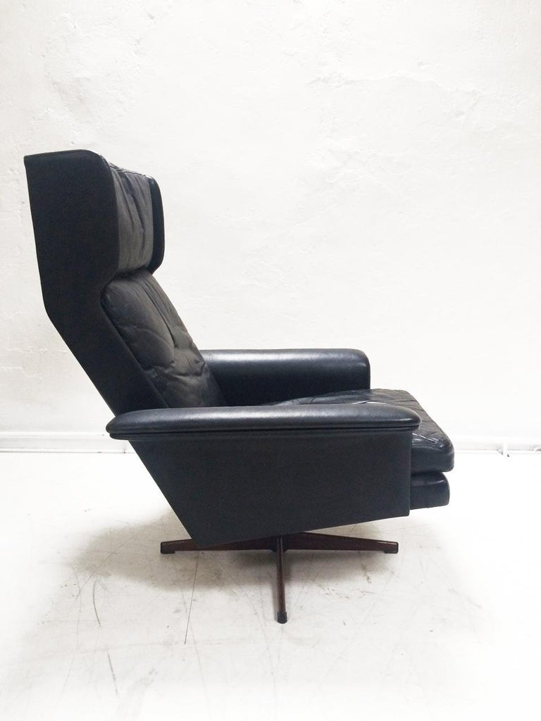 Midcentury Danish Leather 3-piece Lounge Suite by Komfort designed HW Klein 60s For Sale 2
