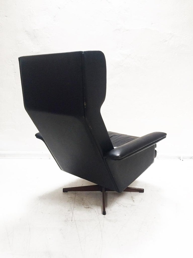 Midcentury Danish Leather 3-piece Lounge Suite by Komfort designed HW Klein 60s For Sale 3