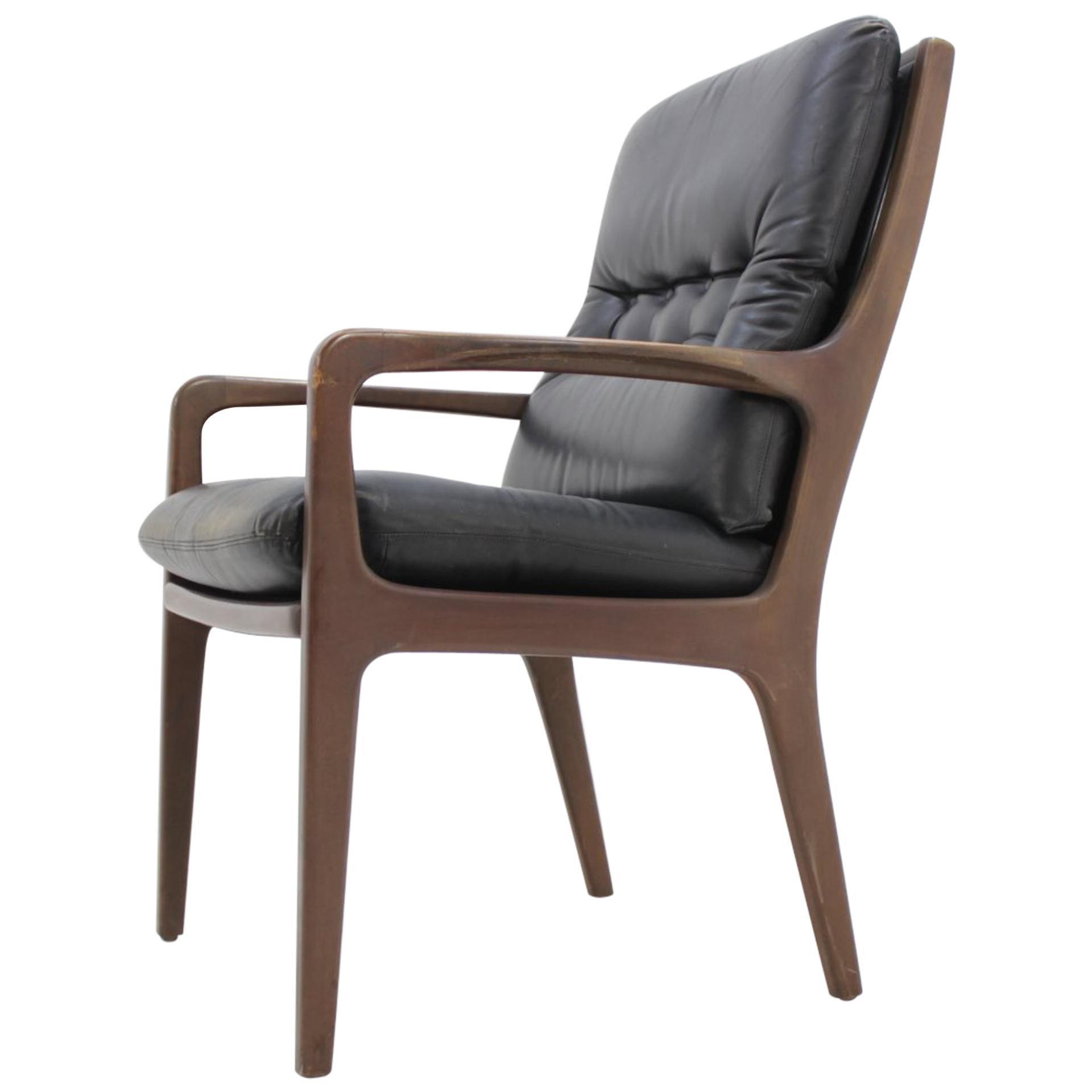 Midcentury Danish Leather Armchair, 1960s