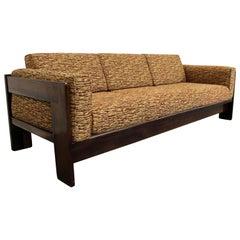 Midcentury Danish Modern Bastiano Tobia Scarpa Knoll Rosewood Sofa