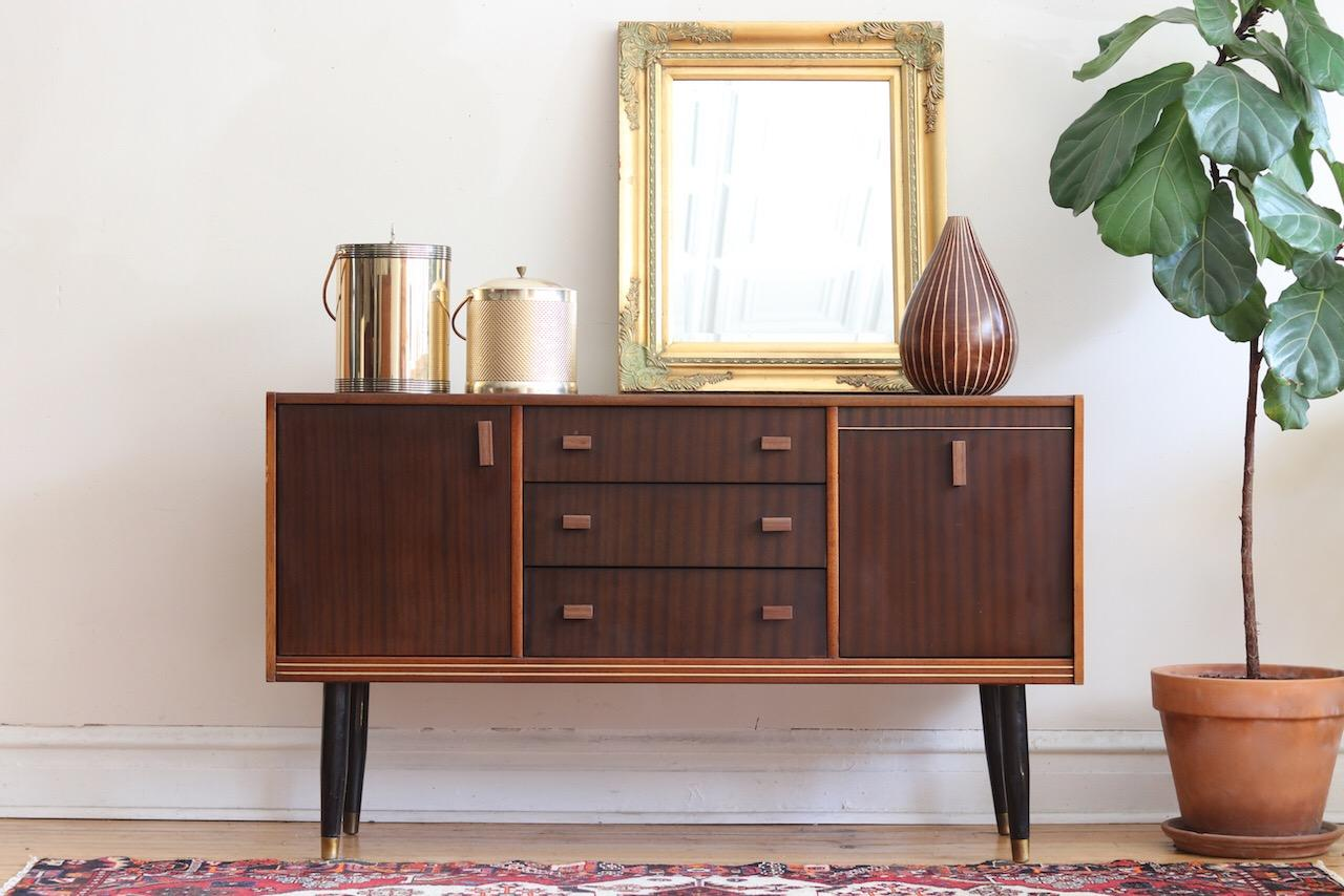 Modern Dark Wood Credenza : Midcentury danish modern dark wood credenza for sale at 1stdibs