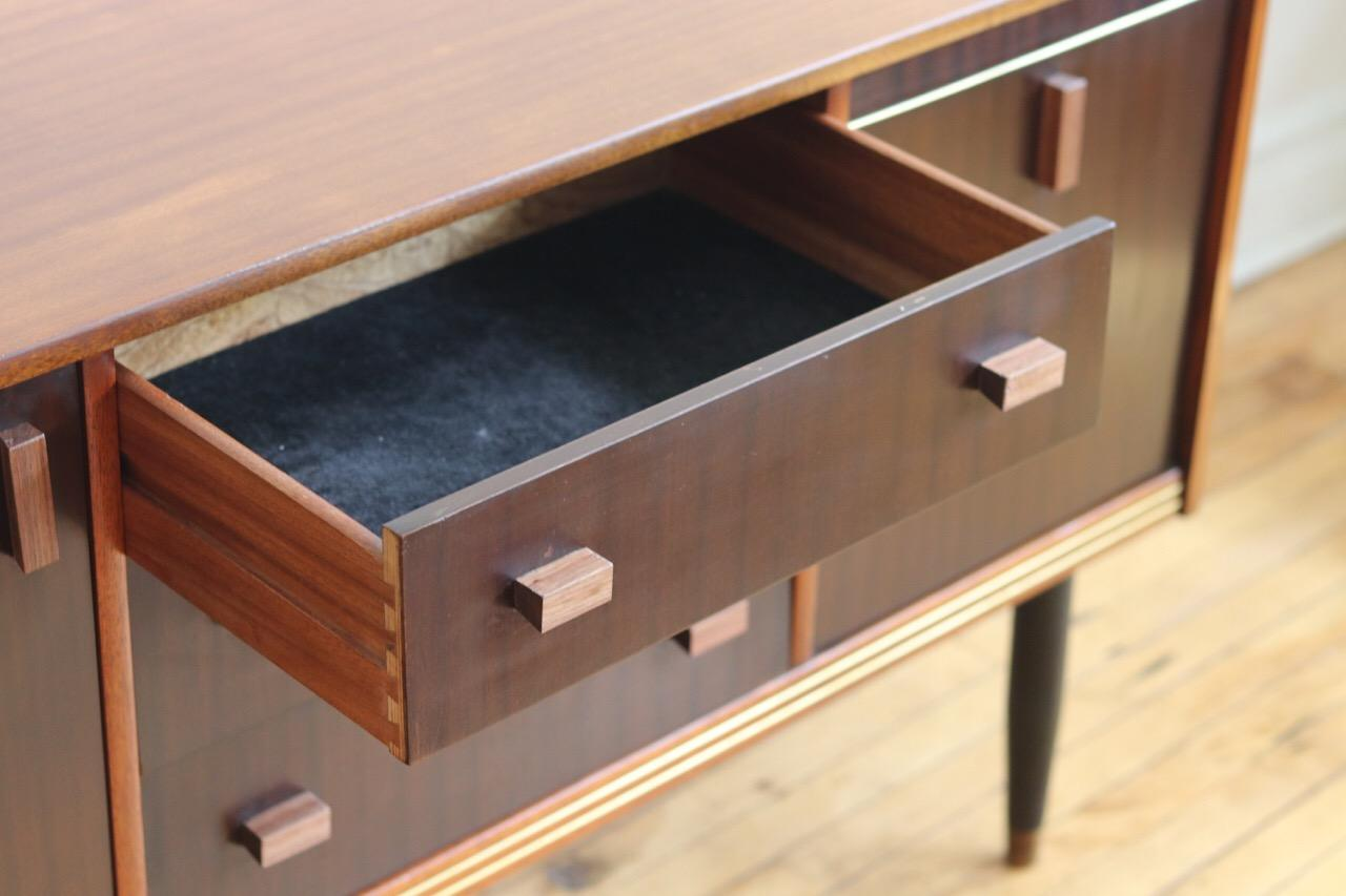 Credenza Dark Wood : Midcentury danish modern dark wood credenza for sale at stdibs