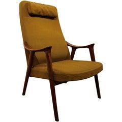 Midcentury Danish Modern Folke Ohlsson Style Teak Lounge Chair