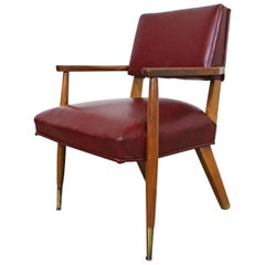 Midcentury Danish Modern Leather Armchair