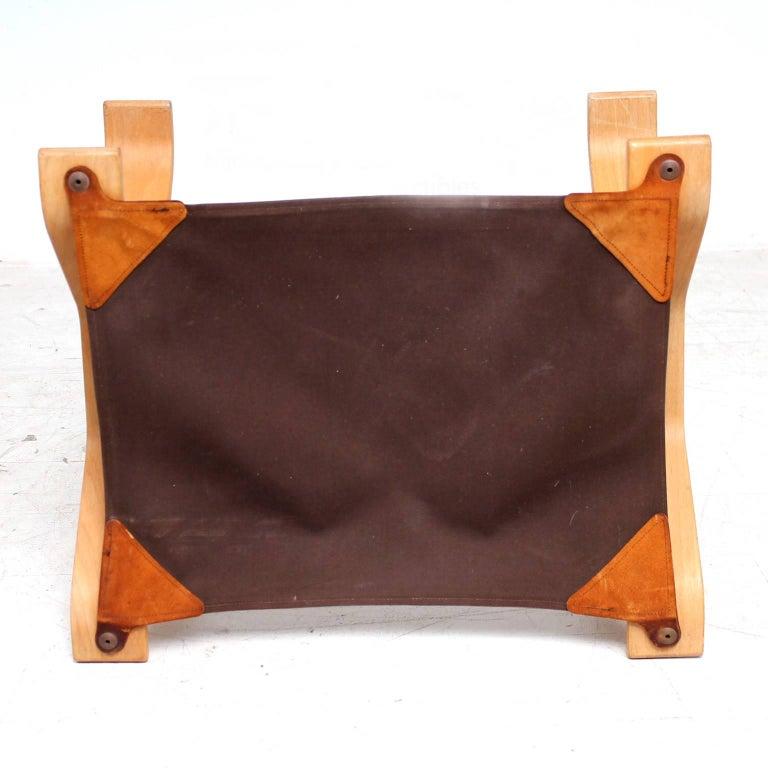 Mid-Century Modern Midcentury Danish Modern Leather Ottoman, 1960s For Sale