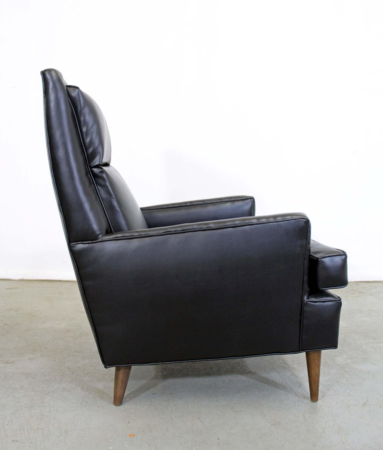 Mid-Century Modern Midcentury Danish Modern Leather Selig Lounge Chair For Sale